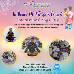 In Honor Of Father's Day & International Yoga Day this coming weekend